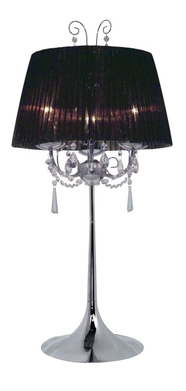 Eglo 21956A 5 Light Table Lamp from the Diadema Collection Chrome