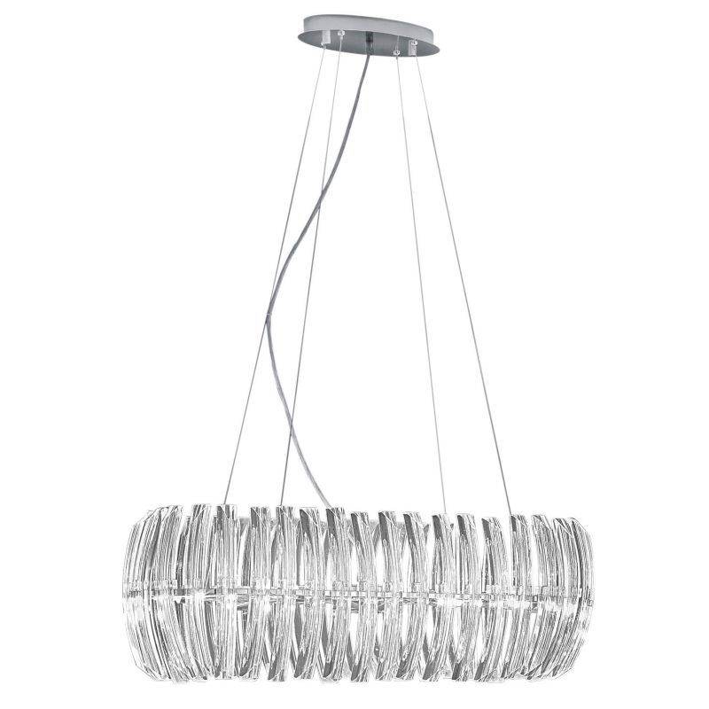 Eglo 89204A 8 Light 1 Tier Chandelier from the Drifter Collection -