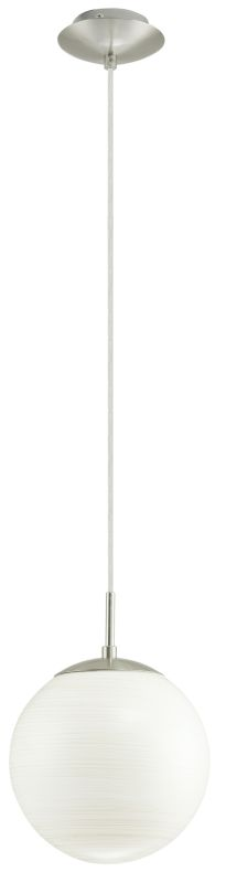 Eglo 90007A 1 Light Foyer Pendant from the Milagro Collection Silver