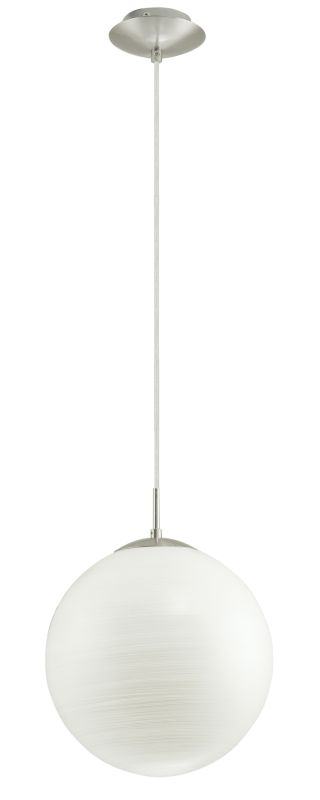 Eglo 90008A 1 Light Foyer Pendant from the Milagro Collection Silver