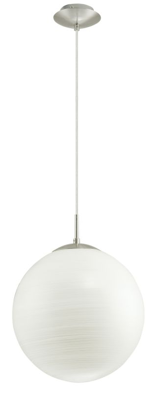 Eglo 90009A 1 Light Foyer Pendant from the Milagro Collection Silver