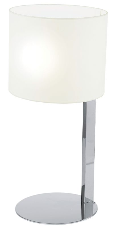 Eglo 90127A 1 Light Table Lamp from the Chicco Collection Chrome Lamps