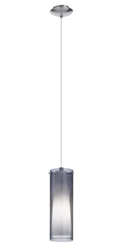 Eglo 90304A 1 Light Mini Pendant from the Pinto Nero Collection Matte