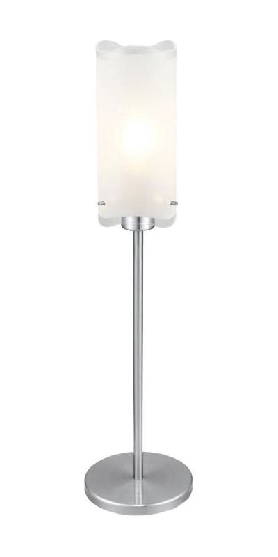 Eglo 90342A 1 Light Table Lamp from the Felice Collection Matte Nickel