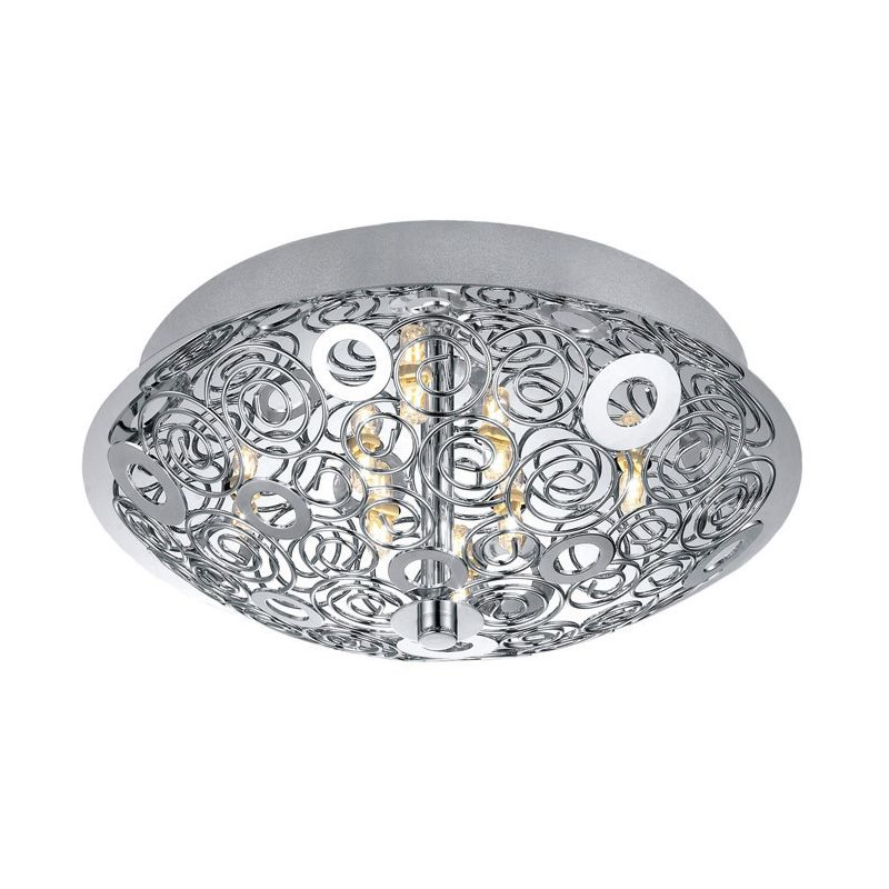 Eglo 90521A 8 Light Semi-Flush Ceiling Fixture from the Cromer