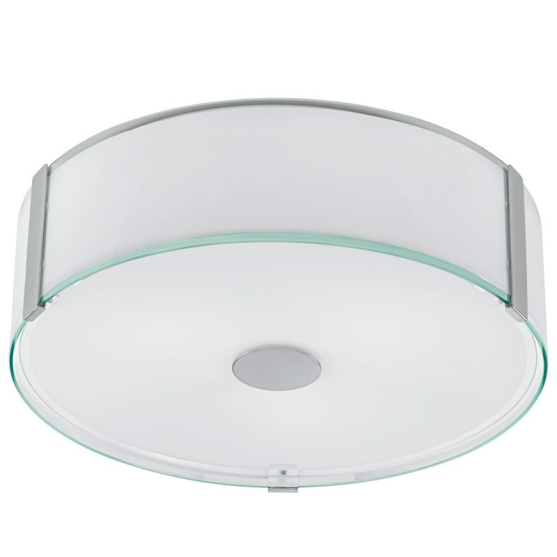 """Eglo 91254A Varano 3 Light 17"""" Wide Flush Mount Ceiling Fixture with"""
