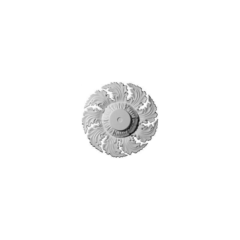 "Ekena Millwork CM14NE 14.625"" Wide Needham Ceiling Medallion White"