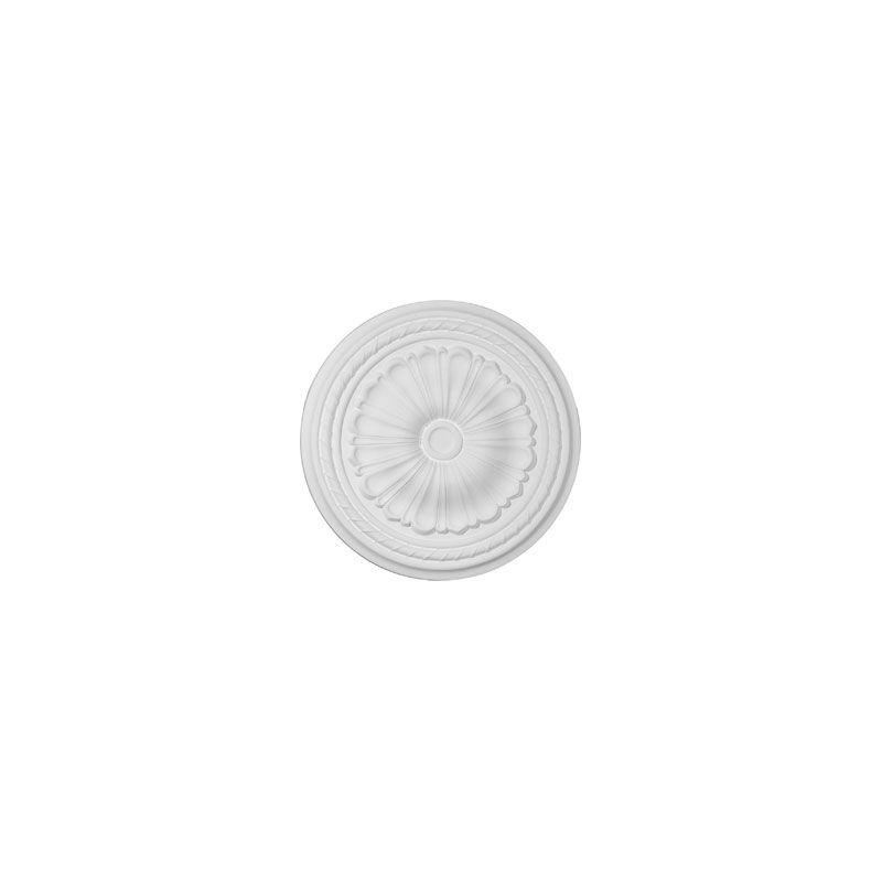 "Ekena Millwork CM20AL 20.5"" Wide Alexa Ceiling Medallion White"