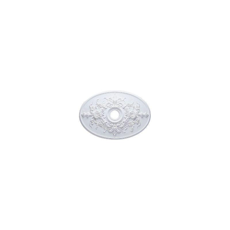 "Ekena Millwork CM21X30AL 31"" Wide Alexa Ceiling Medallion White"