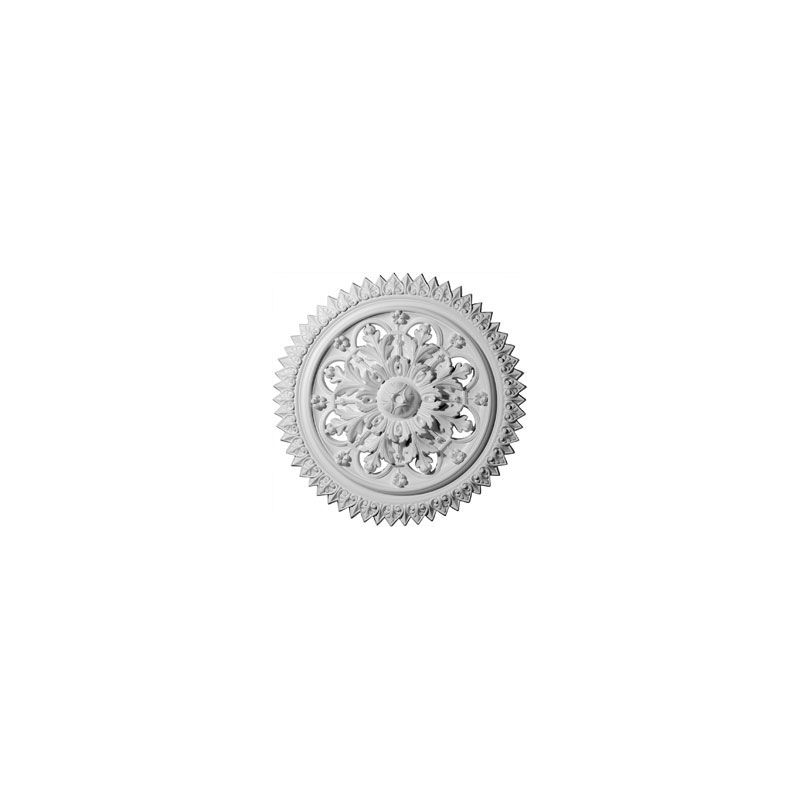"Ekena Millwork CM21YO 21.625"" Wide York Ceiling Medallion White"