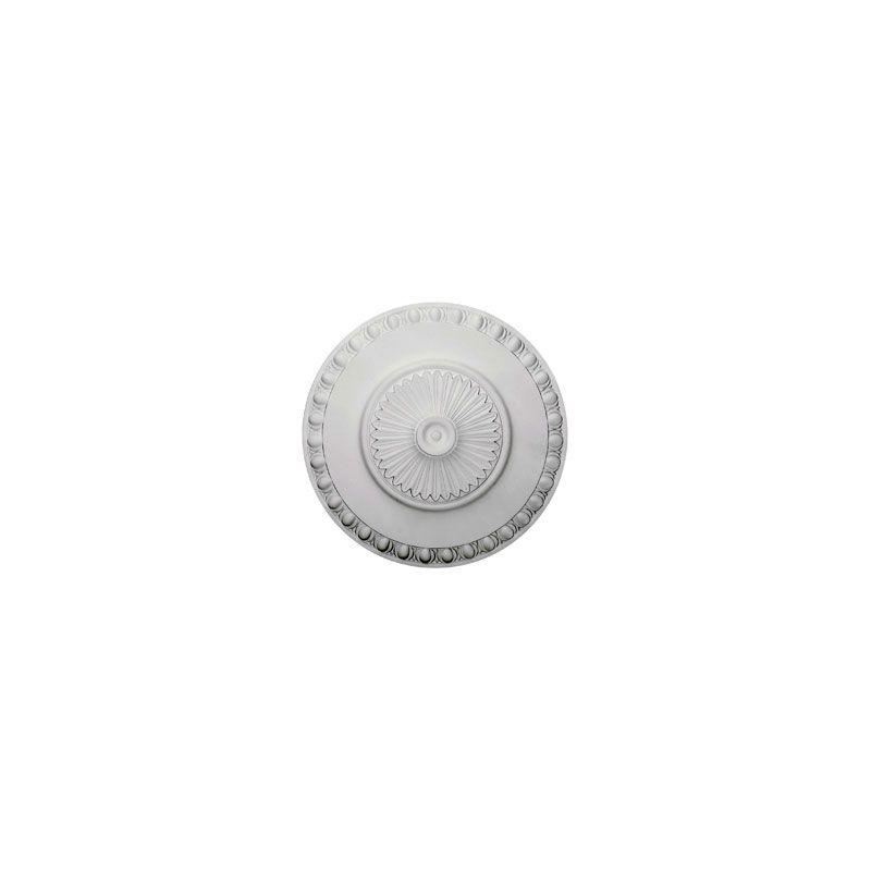 "Ekena Millwork CM23LY 23.5"" Wide Lyon Ceiling Medallion White"