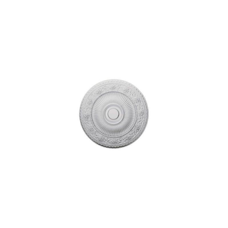 "Ekena Millwork CM24NA 24.25"" Wide Neuveau Ceiling Medallion White"