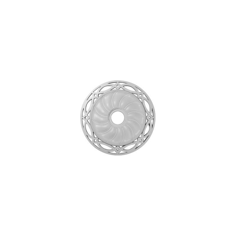 "Ekena Millwork CM26LO 26.625"" Wide Loera Ceiling Medallion White"