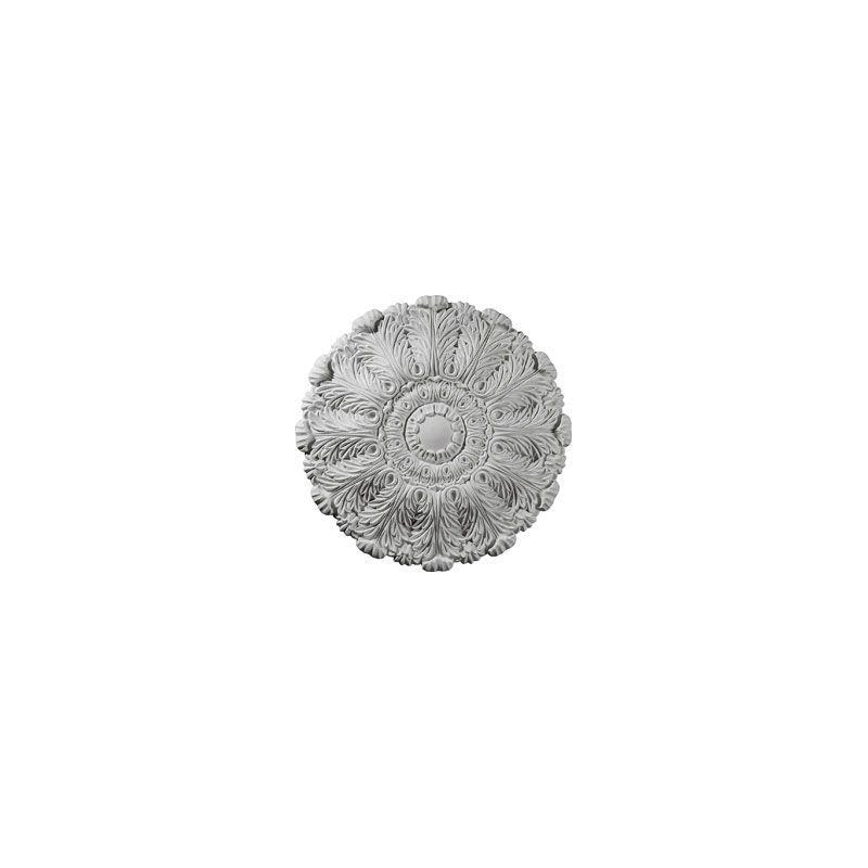 "Ekena Millwork CM31DU 31"" Wide Durham Ceiling Medallion White"