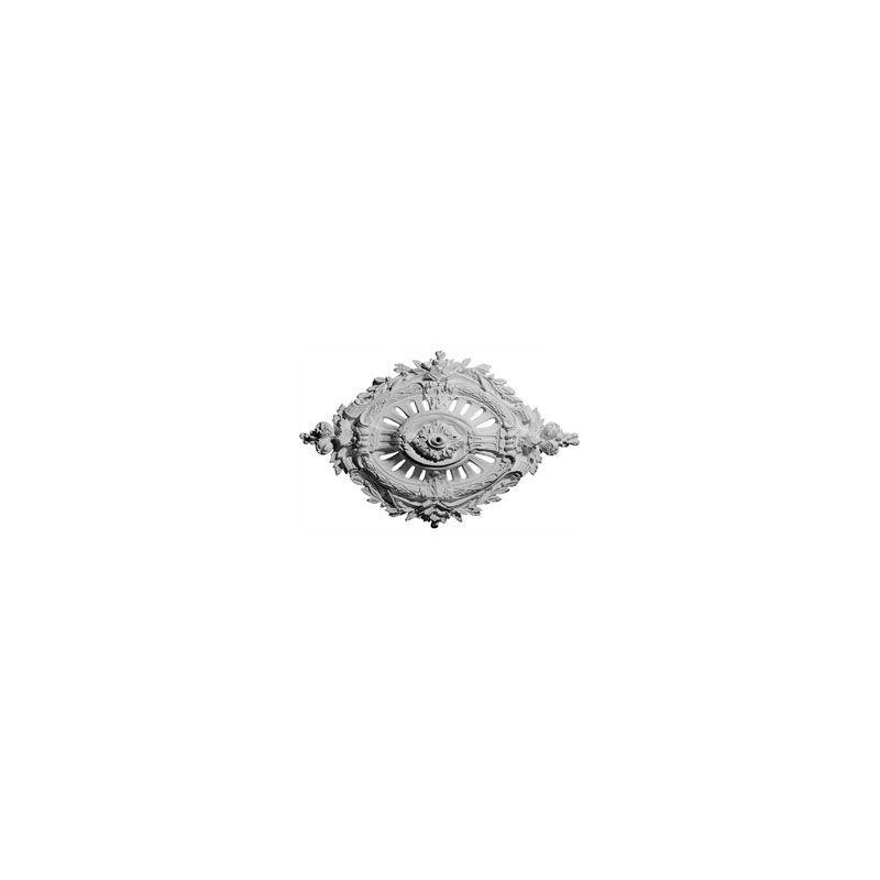 """Ekena Millwork CM35X22AN 35.5"""" Wide Antonio Ceiling Medallion White"""