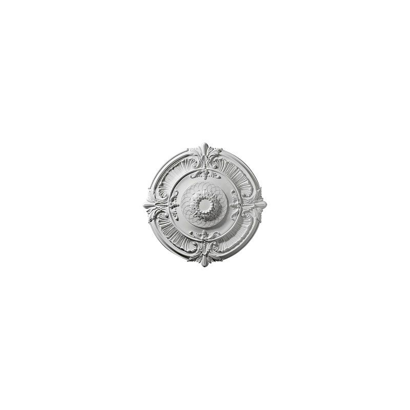 "Ekena Millwork CM39AT 39.5"" Wide Attica Ceiling Medallion White"