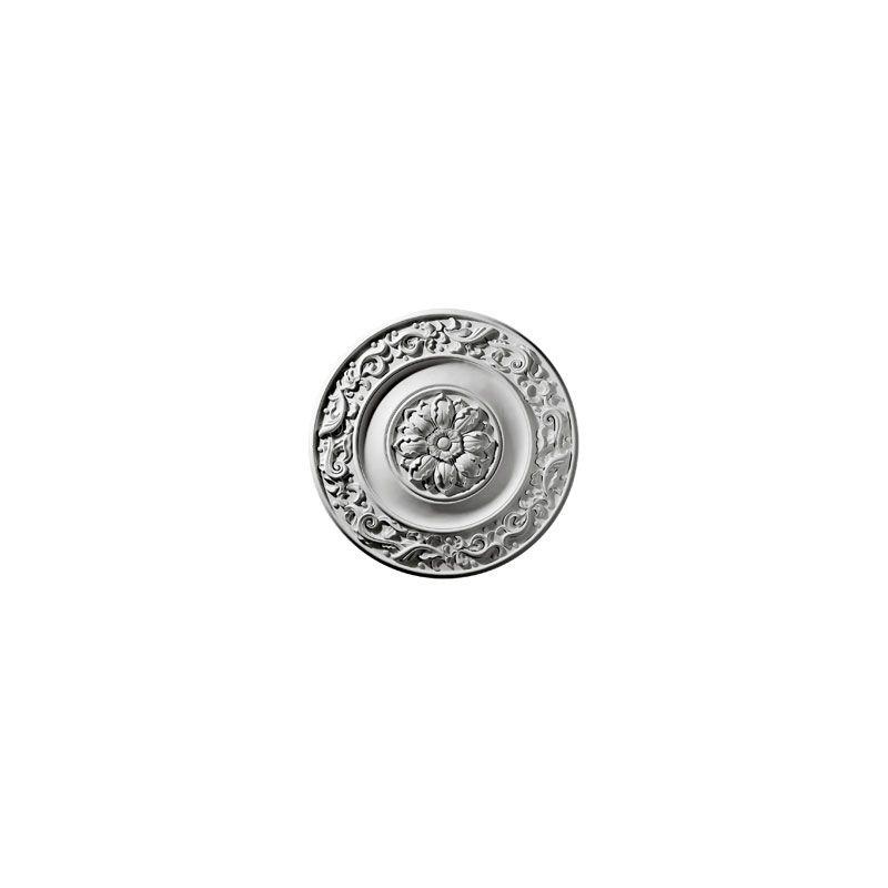 """Ekena Millwork CM47MI 47.625"""" Wide Milan Ceiling Medallion White"""
