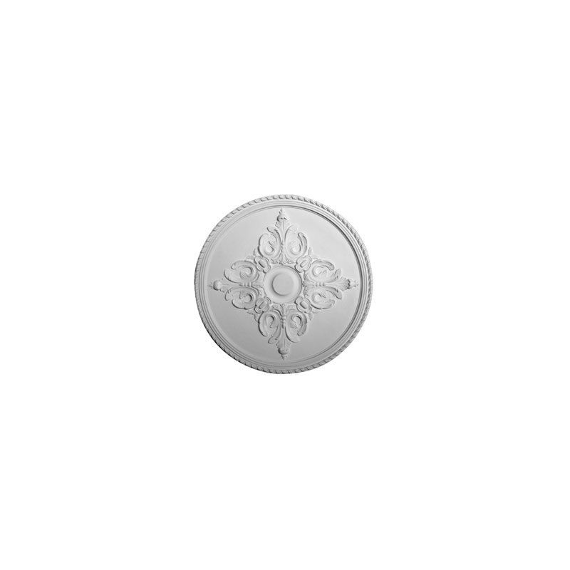 """Ekena Millwork CM54MI 54.25"""" Wide Milton Ceiling Medallion White"""