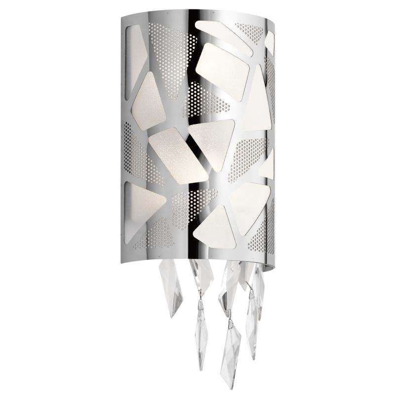 Elan Angelique Wall Sconce Angelique Wall Sconce Chrome Indoor