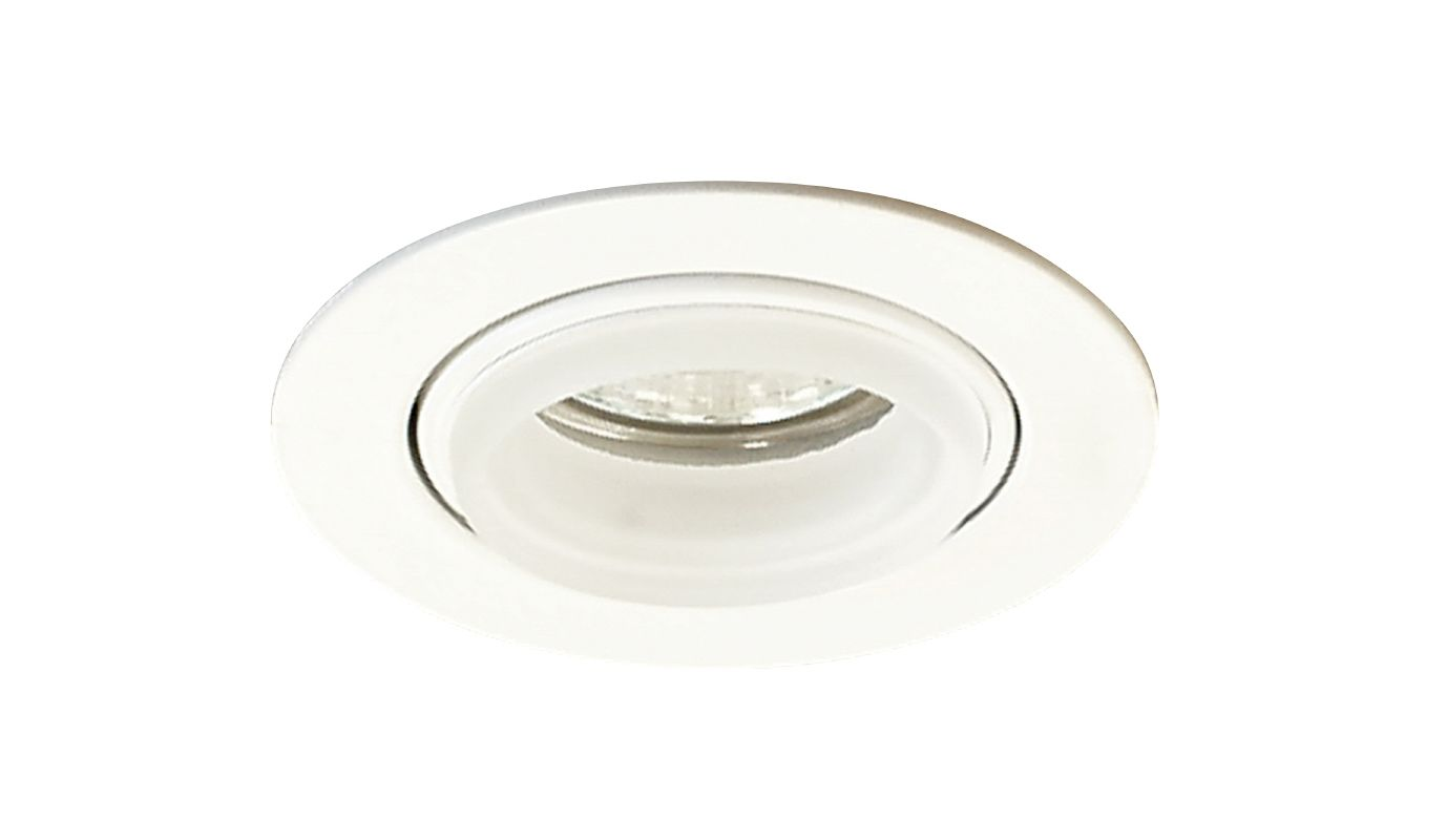 Elco E233 Mini MR16 Downlight with Diecast Gimbal Ring and Glass Ring