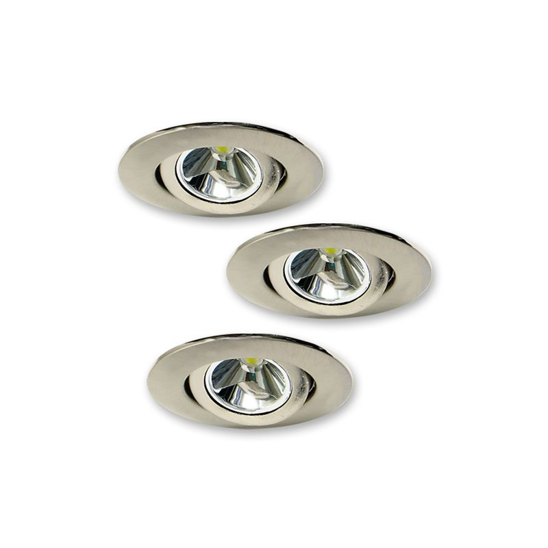 elco e342n nickel 3w mini led recessed undercabinet light. Black Bedroom Furniture Sets. Home Design Ideas