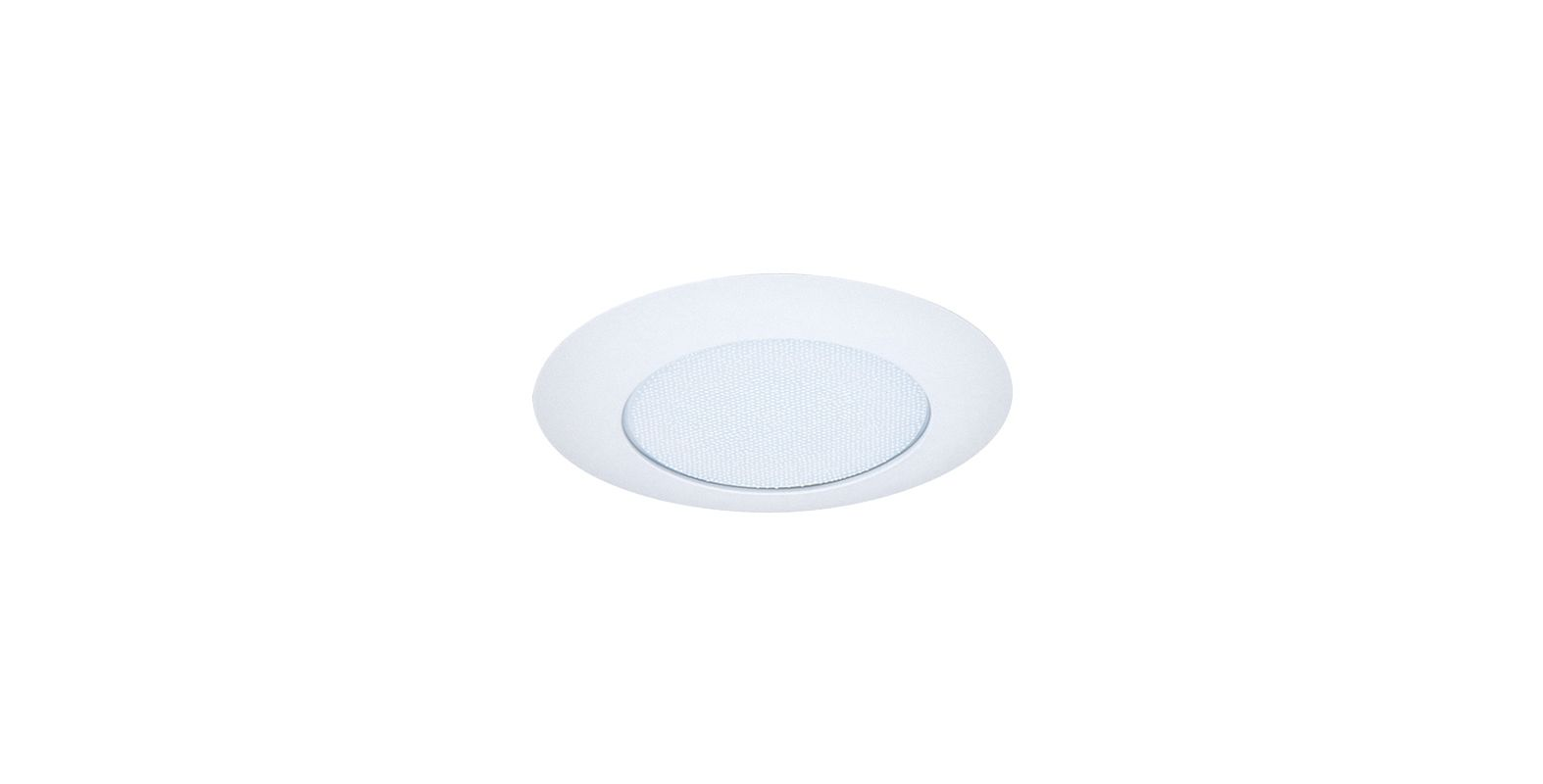 "Elco EL112 6"" CFL IC Shower Trim with Reflector and Frosted Lens White"