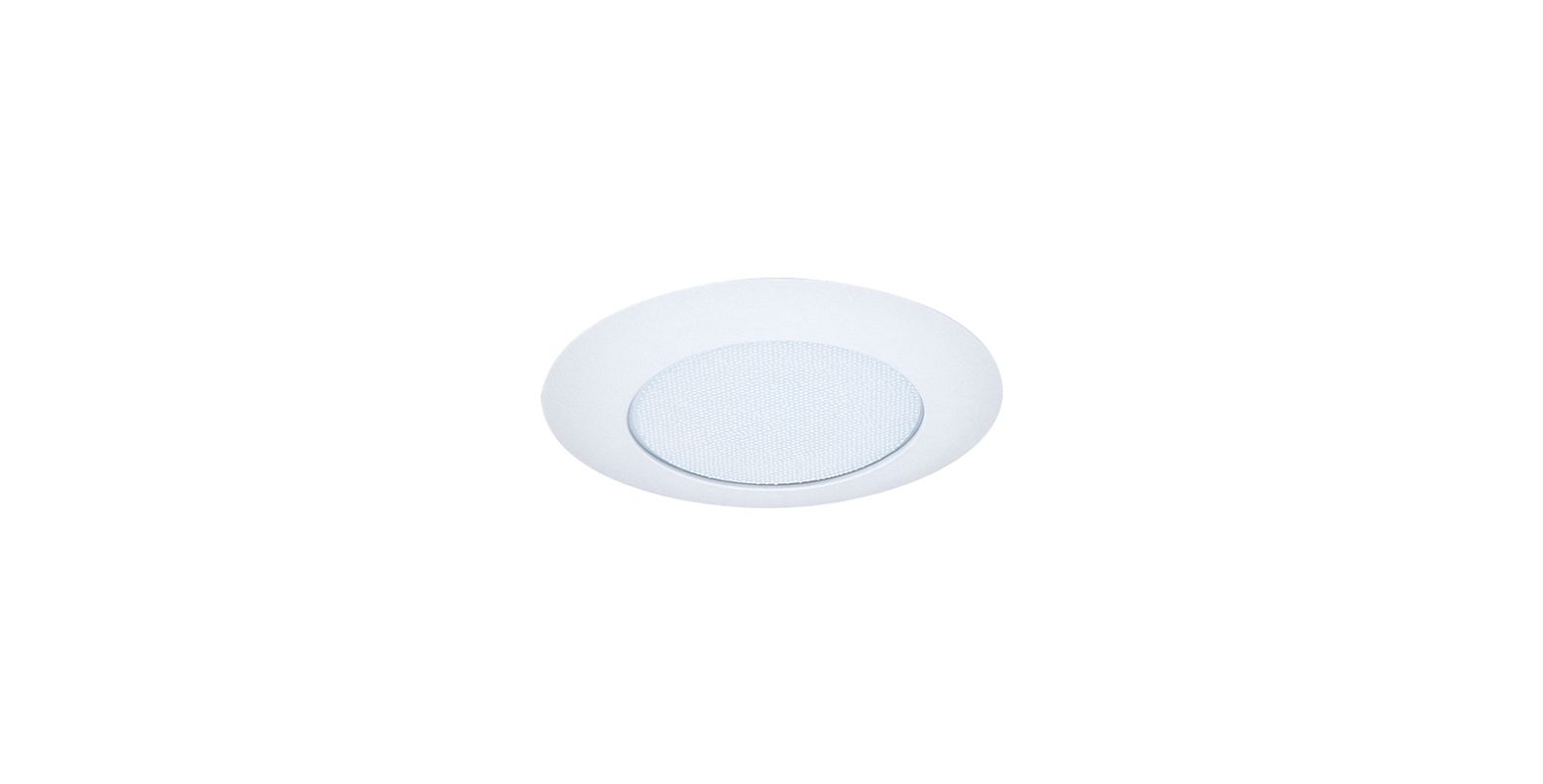 "Elco EL12 6"" Shower Trim with Albalite Lens White Lexan Ring Recessed"