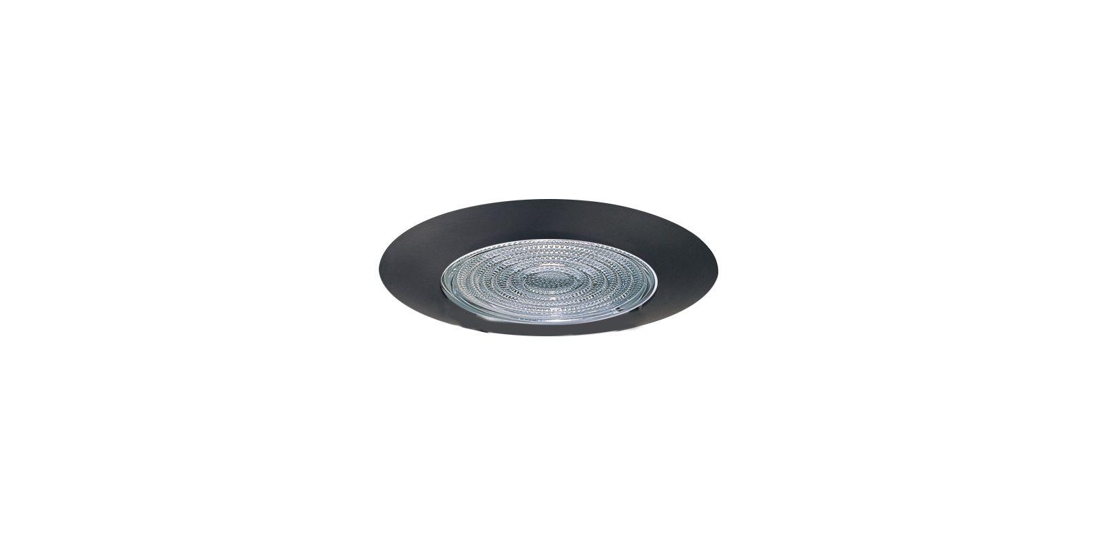 """Elco EL13 6"""" Shower Trim with Fresnel Lens Black Recessed Lights"""