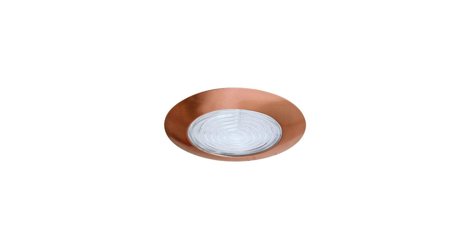 "Elco EL13 6"" Shower Trim with Fresnel Lens Copper Ring Recessed Lights"