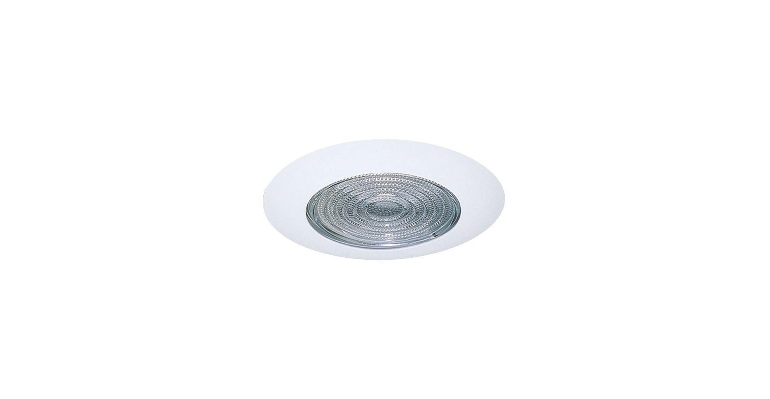 """Elco EL13 6"""" Shower Trim with Fresnel Lens White Lexan Ring Recessed"""