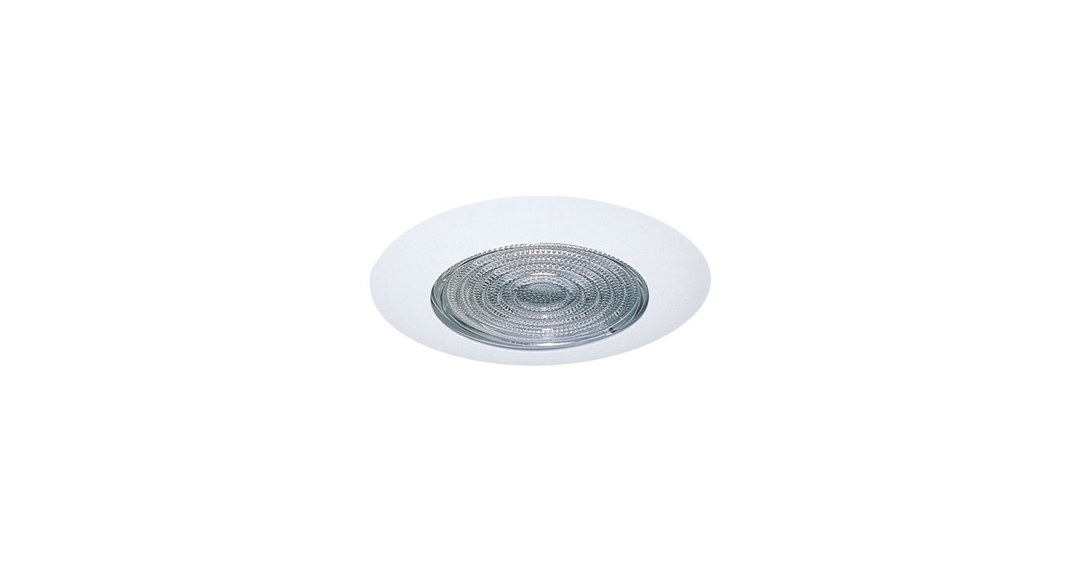 """Elco EL13 6"""" Shower Trim with Fresnel Lens White Ring Recessed Lights"""