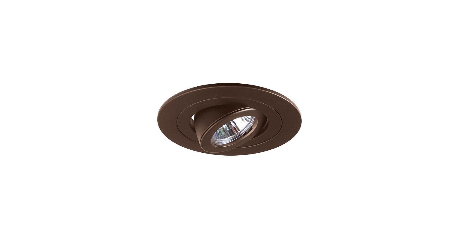 "Elco EL1488 4"" Low Voltage Adjustable Spot Trim Bronze Recessed Lights"