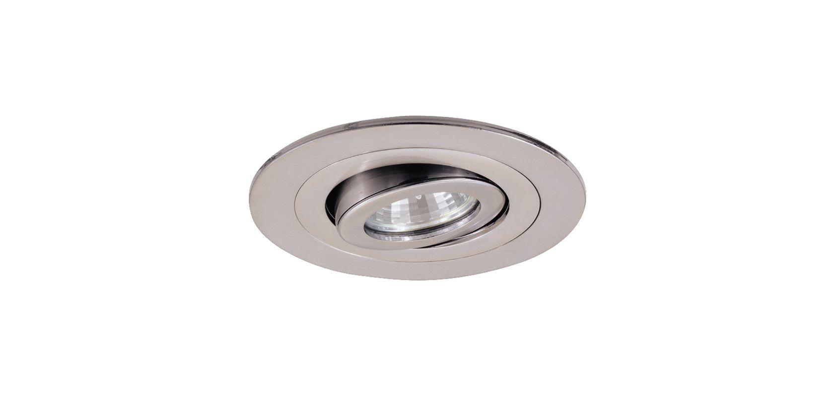 Elco EL1488 4&quote Low Voltage Adjustable Spot Trim Nickel Recessed Lights