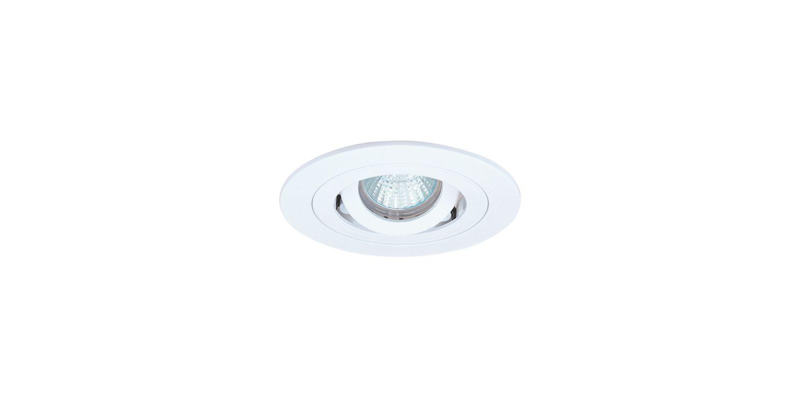 "Elco EL1488 4"" Low Voltage Adjustable Spot Trim White Recessed Lights"