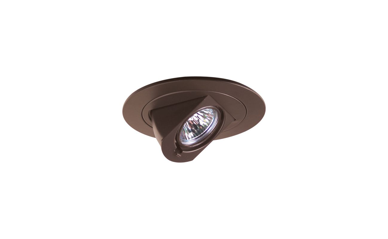 "Elco EL1497 4"" Low Voltage Adjustable Pull Down Trim Bronze Recessed"