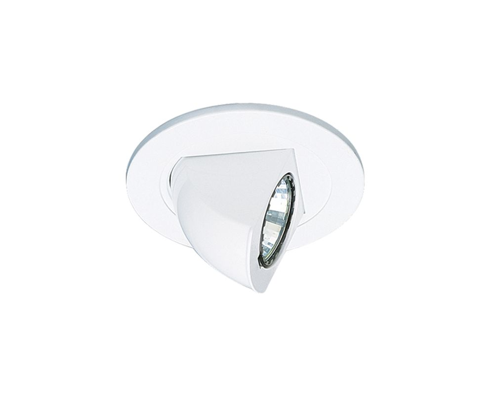 "Elco EL1497 4"" Low Voltage Adjustable Pull Down Trim White Recessed"
