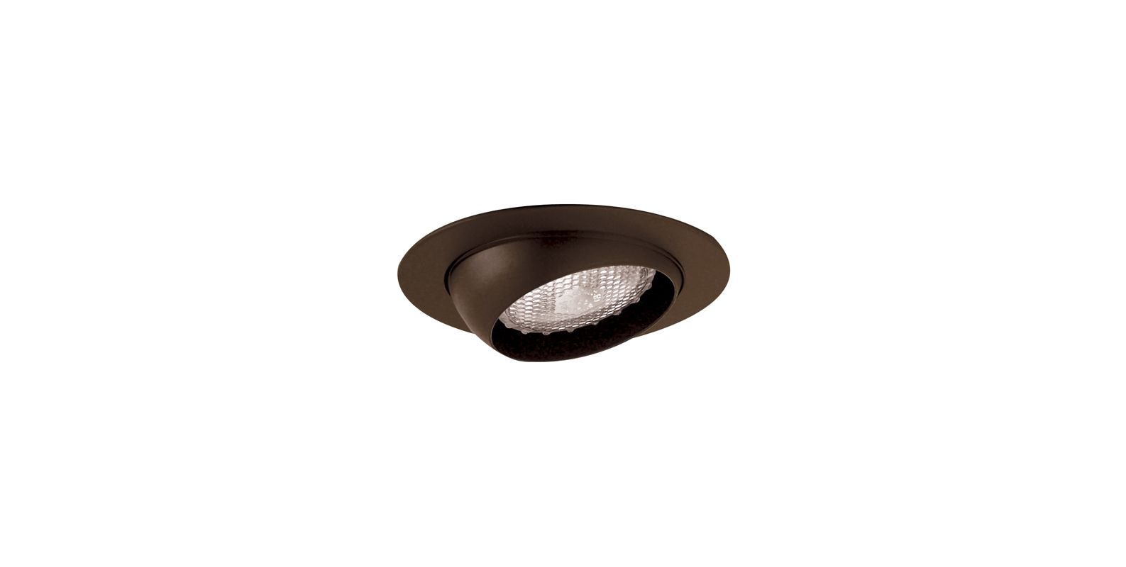 "Elco EL18 6"" Eyeball Trim for 75W Bulbs Bronze Recessed Lights"