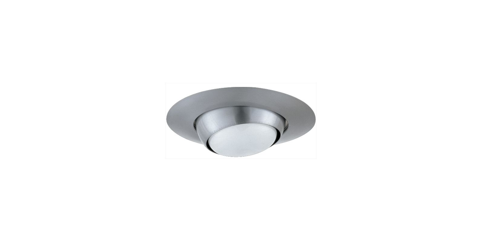 "Elco EL18 6"" Eyeball Trim for 75W Bulbs Nickel Recessed Lights"