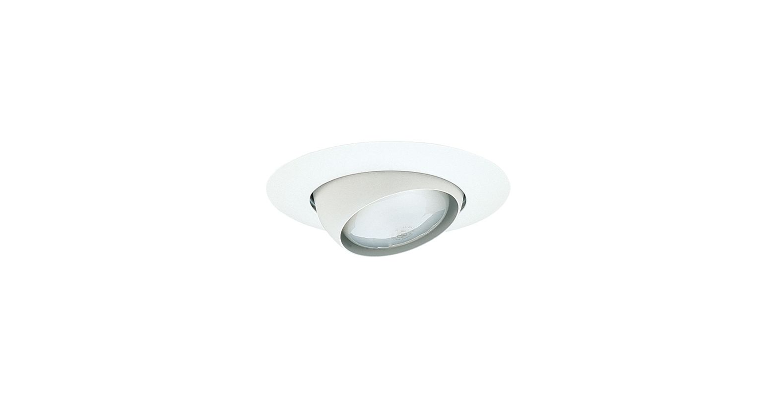 "Elco EL18 6"" Eyeball Trim for 75W Bulbs White Recessed Lights"