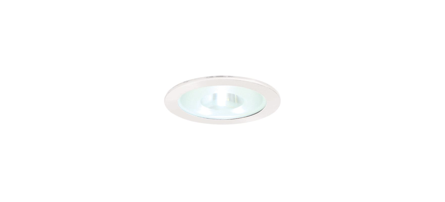 "Elco EL24 6"" Shower Trim with Frosted Pinhole Glass Lens White"