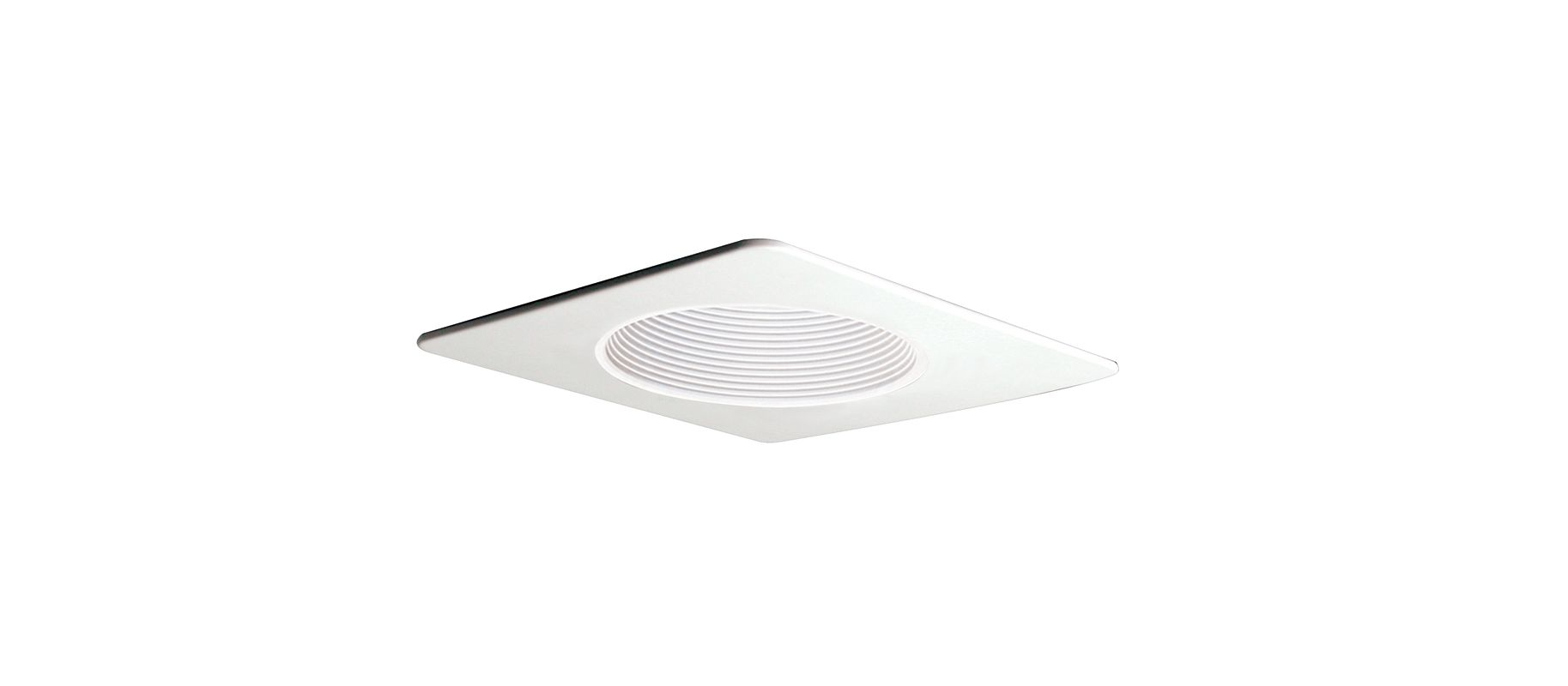 "Elco EL2993 4"" Square Trim with Phenolic Baffle White Recessed Lights"