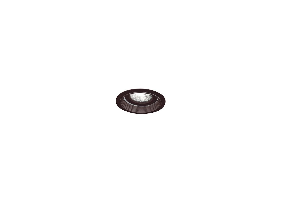 "Elco EL376 6"" Regressed Gimbal Ring with Baffle Black Recessed Lights"