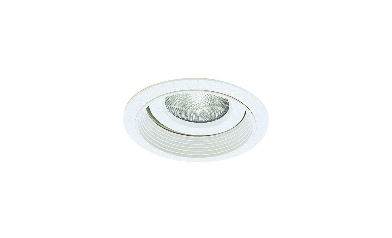 "Elco EL376 6"" Regressed Gimbal Ring with Baffle White Recessed Lights"