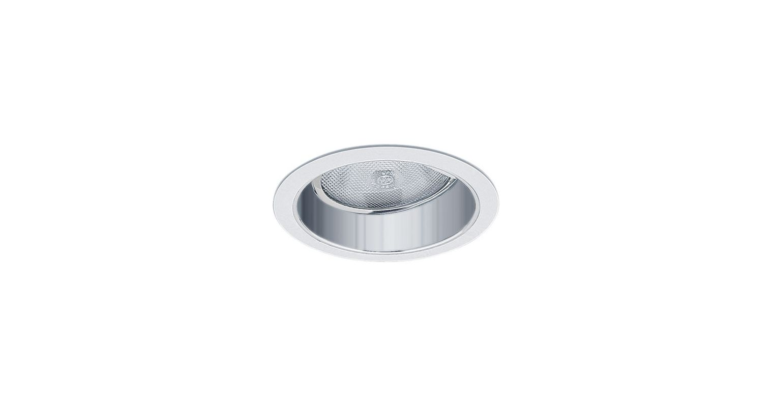"""Elco EL477 6"""" Adjustable Reflector with Gimbal White / Silver Recessed"""