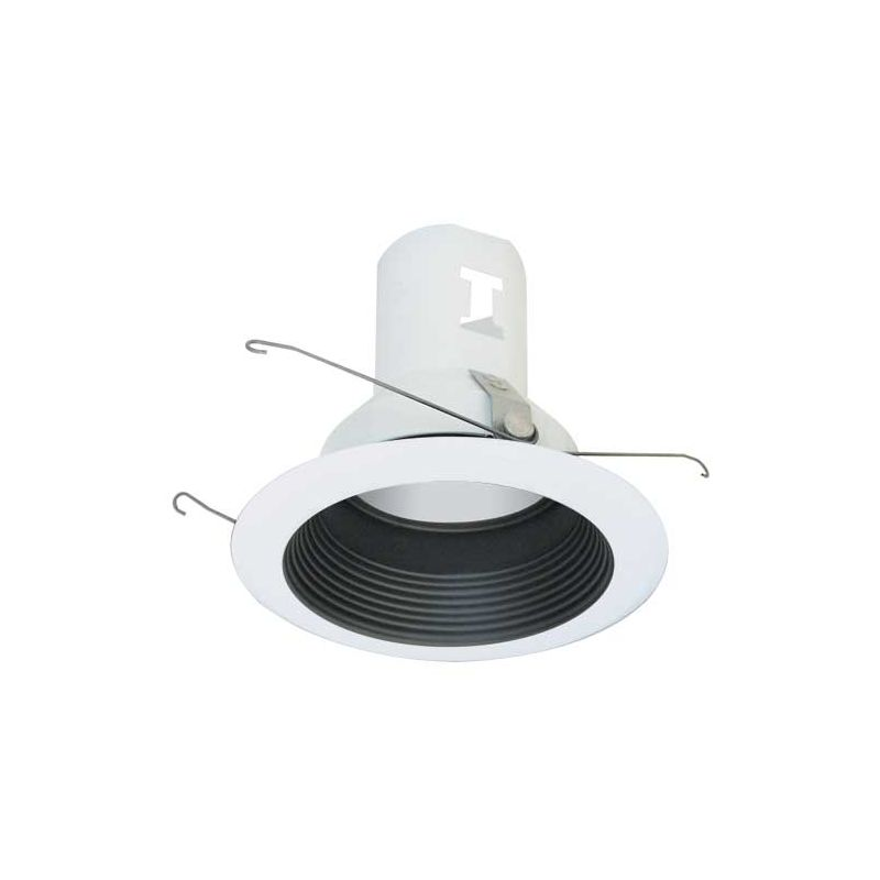 """Elco EL511 5"""" Metal Splay Baffle for 75W Bulbs Black Recessed Lights"""