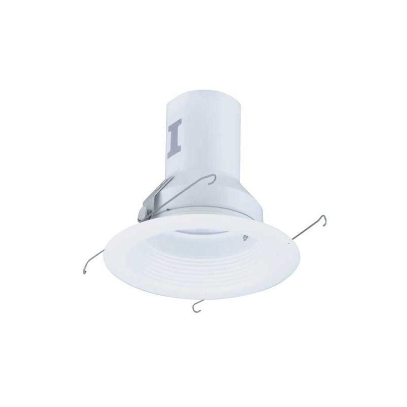 "Elco EL511 5"" Metal Splay Baffle for 75W Bulbs White Recessed Lights"