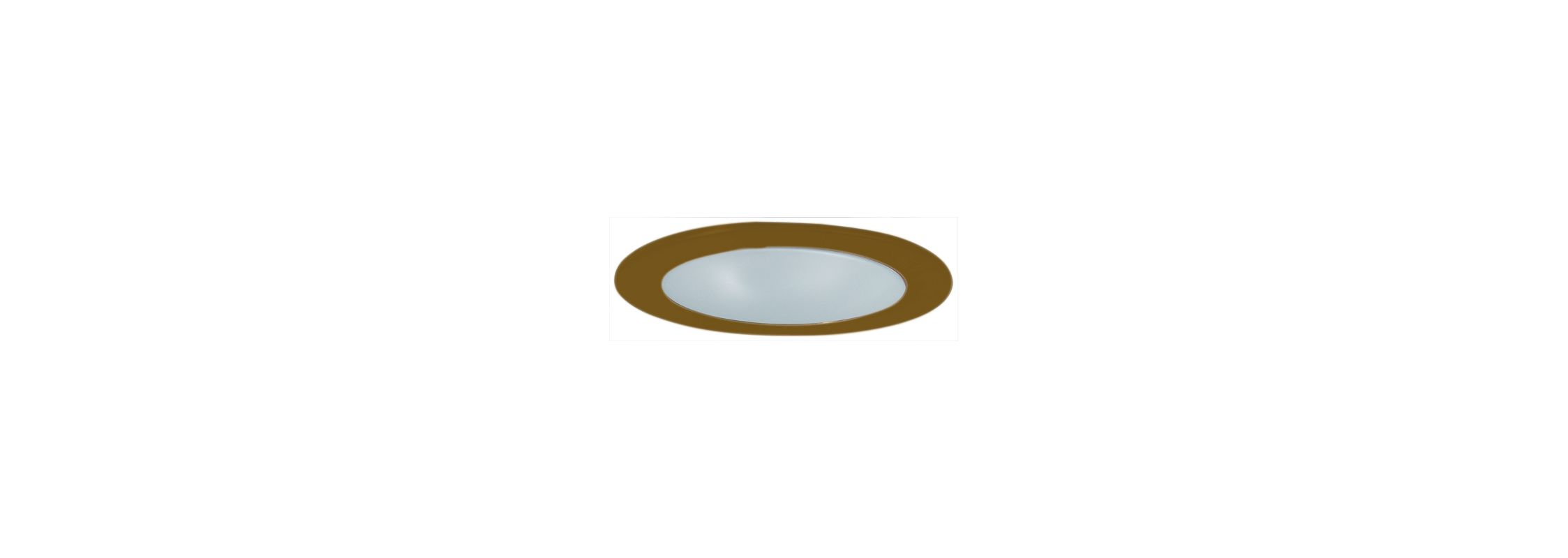 "Elco EL9112 4"" CFL Shower Trim with Frosted Lens and Reflector Bronze"