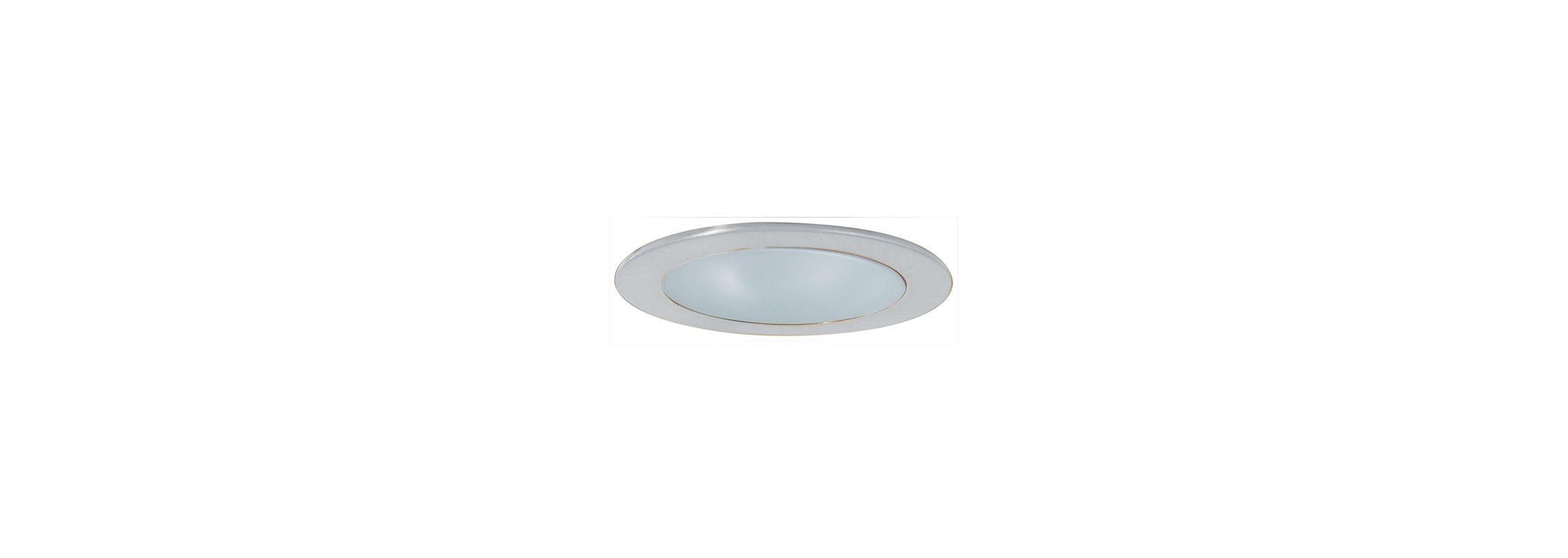 "Elco EL9112 4"" CFL Shower Trim with Frosted Lens and Reflector Nickel"
