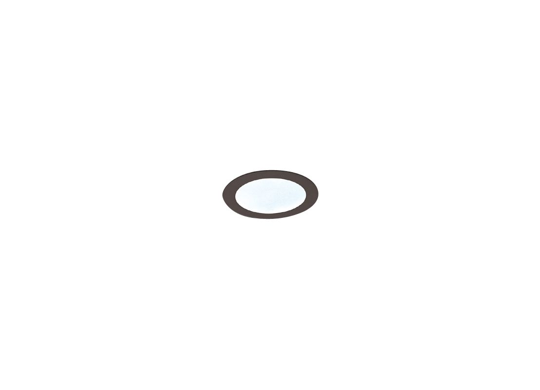 "Elco EL912 4"" Shower Trim with Frosted Lens Black Ring Recessed Lights"