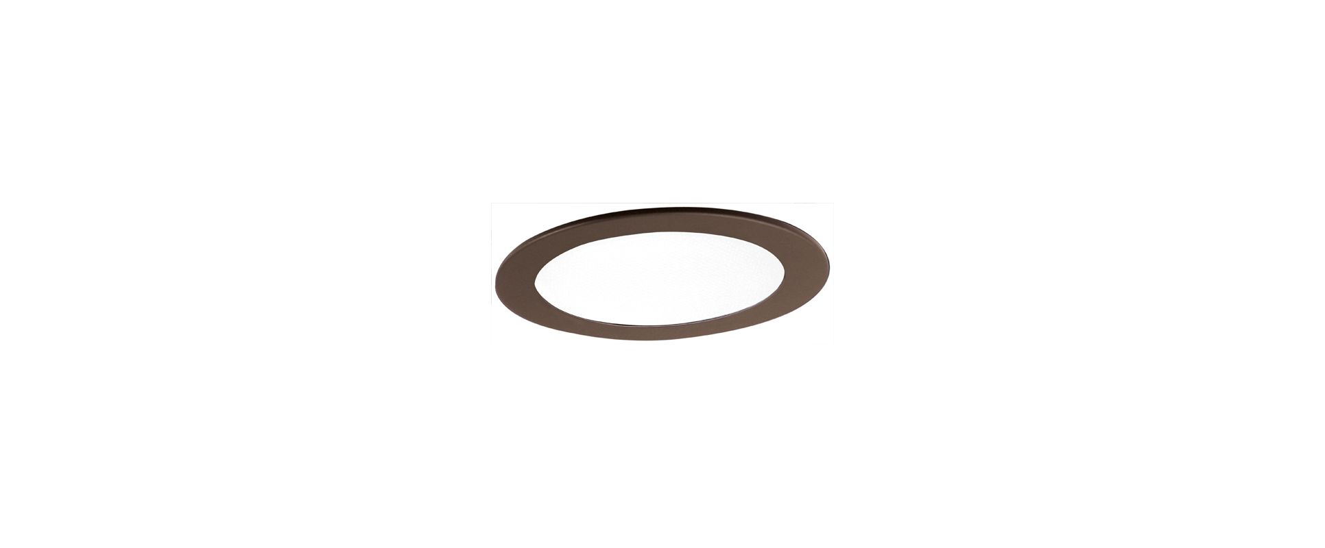 "Elco EL912 4"" Shower Trim with Frosted Lens Bronze Ring Recessed"